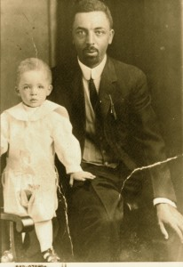 """Dr. Albert B. Cleage Sr and son Albert Jr"""