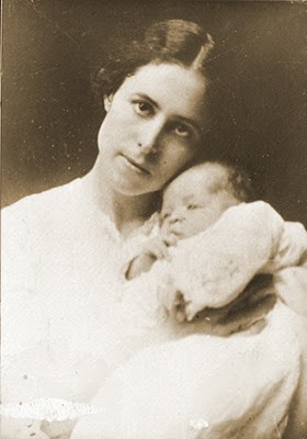 """Pearl Cleage and baby Albert"""
