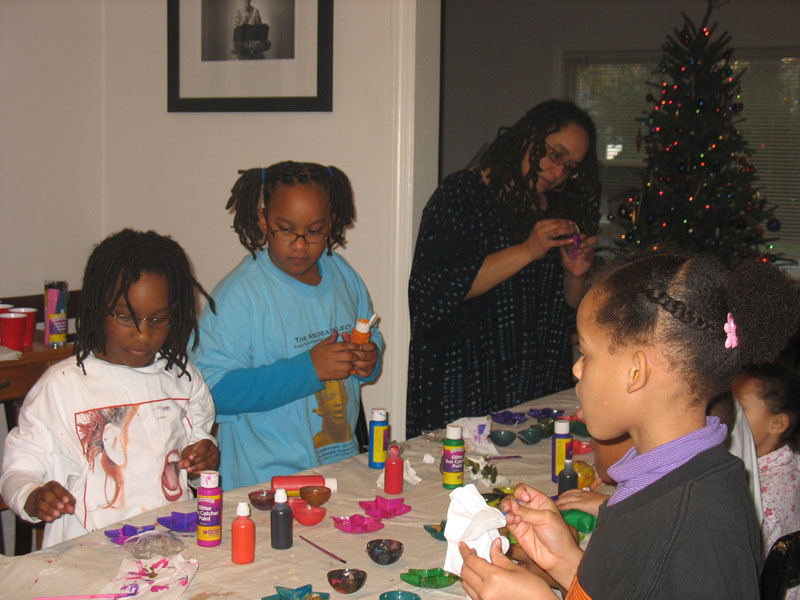 """""""Painting Christmas Decorations"""""""