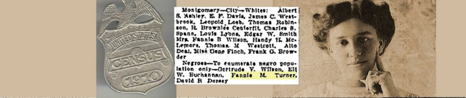 Appoint Census Takers – Fannie M. Turner, Enumerator 1910