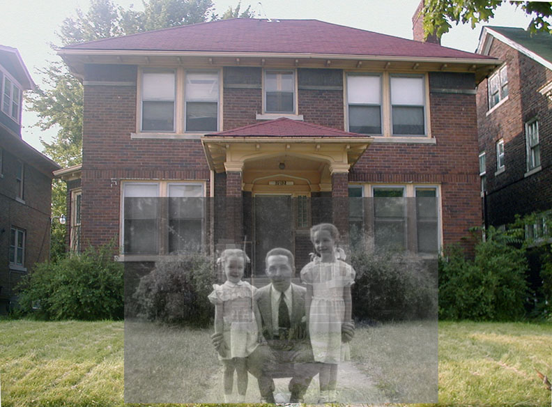 The parsonage now and us back in 1953.