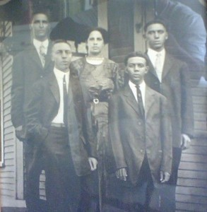 Left to right: Albert, Josephine, Edward. Back L Henry, back R Jacob