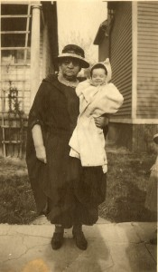 Great grandmother Celia holding my aunt Gladys. 1923. Detroit.
