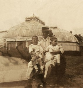 Mershell and Doris with their father. 1925.Belle Isle, Detroit.