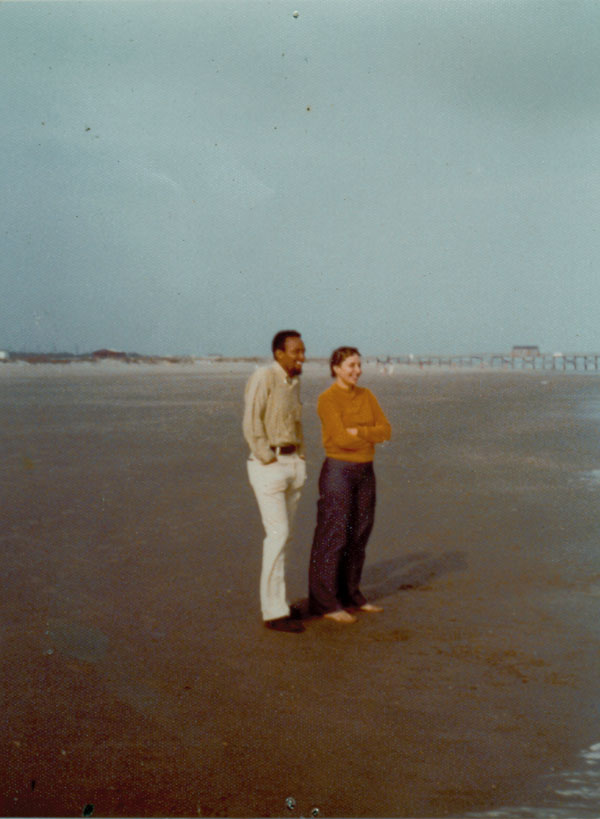 Jim and Kris at the beach.