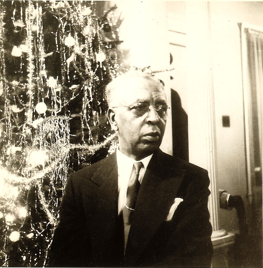 Dr. Albert B. Cleage,Sr Christmas on Scotten before 1948, Detroit.