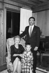 Ernest with his mother and son.