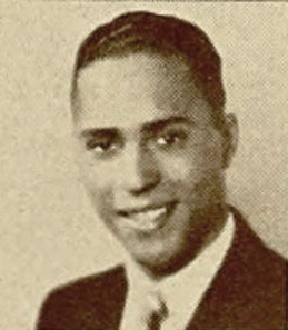 "Thomas Perry Averette in the Belmont High School 1933 year book photo – ""A smiling, quiet man"""