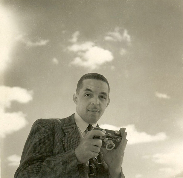 Taking photographs - 1940s.