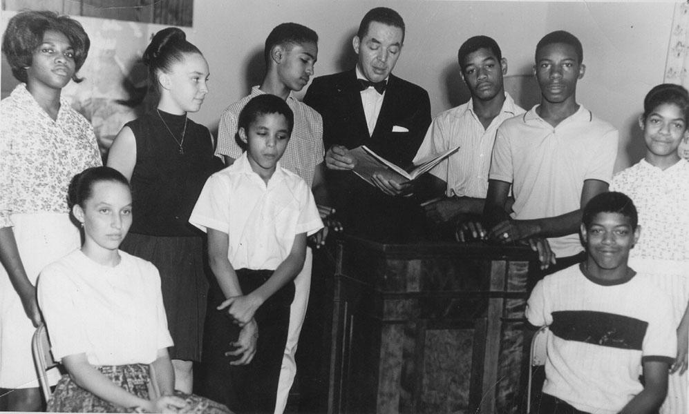 Freedom School posed photograph 1964.