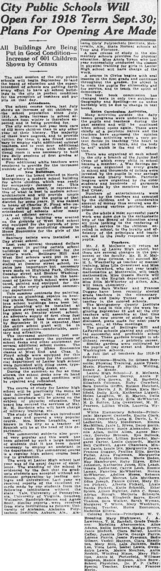 Montgomery Advertiser Thursday, august 15, 1918