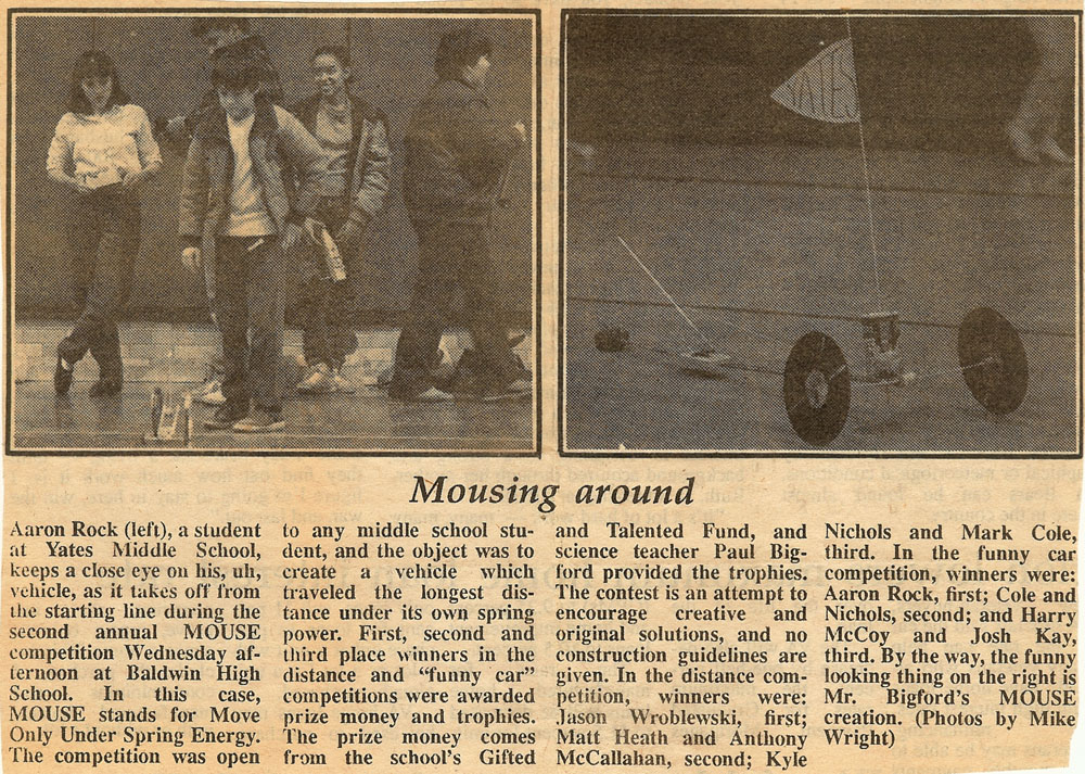 Article from The Lake County Star, about 1988.