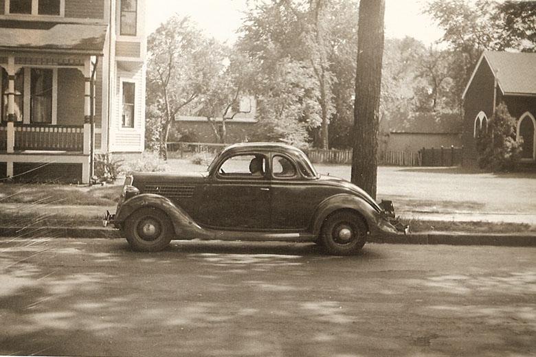 Reginald Funn and car.