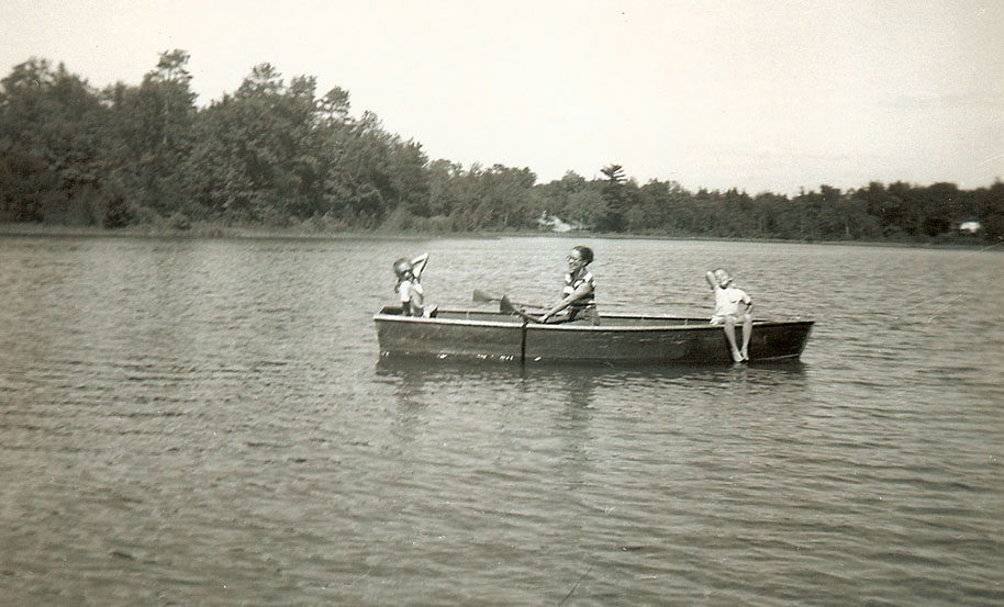 Kris, Doris and Pearl. Lake Idlewild, Michigan. 1956.