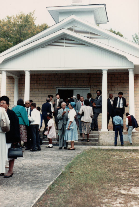 Homecoming Sunday at Harmony taken about 1993.