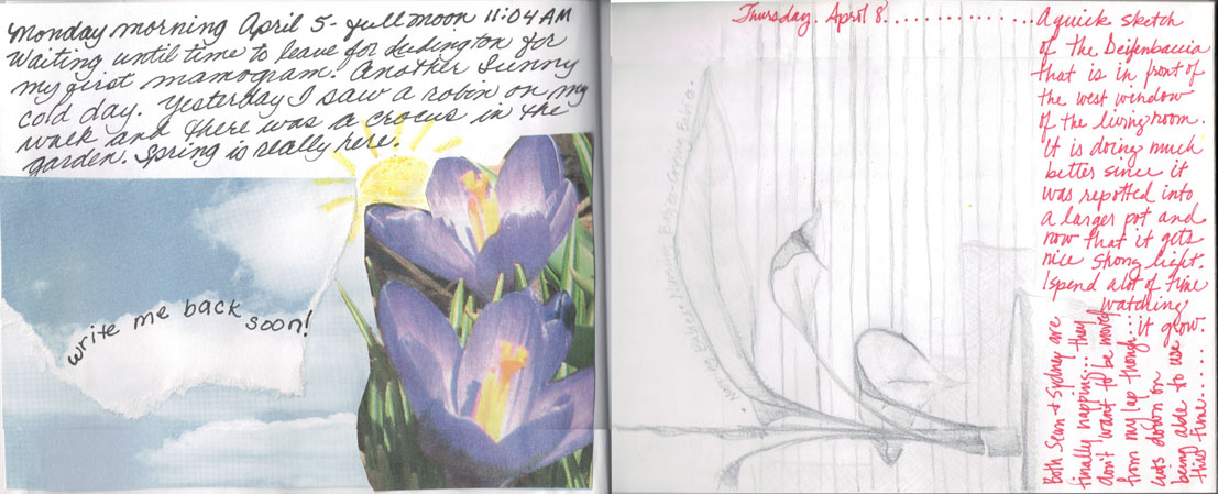 April 5, 2004 Shared Journal with my daughter ife.