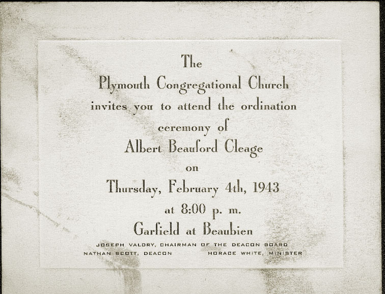 Invitation to my father's Ordination.