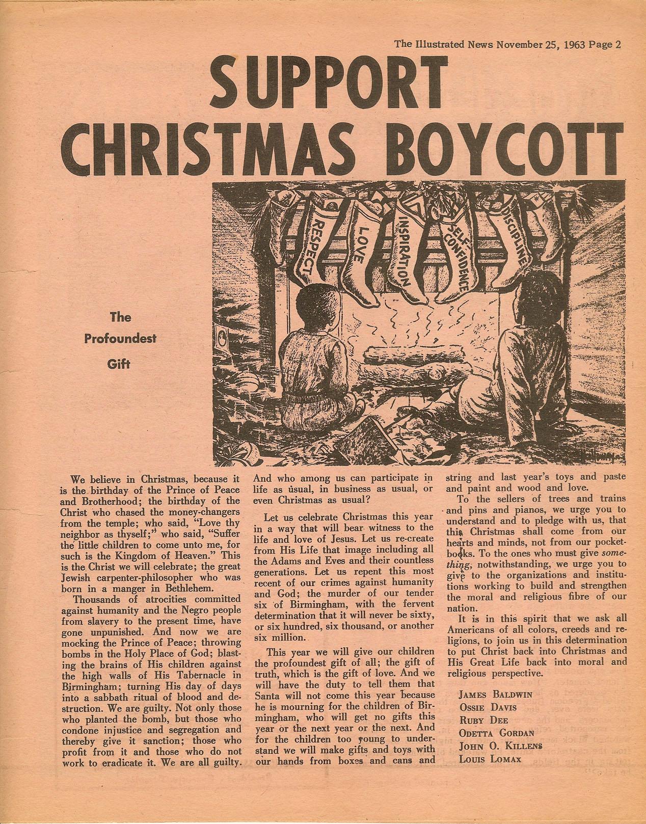 Support The Christmas Boycott – 1963 – Finding Eliza