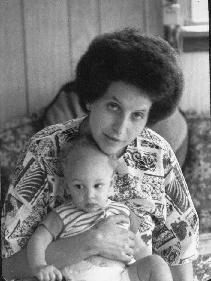 Kristin with baby Tulani