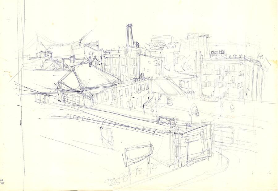 cityscape - sketch complete