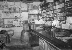 A grocery store in 1920 Detroit.