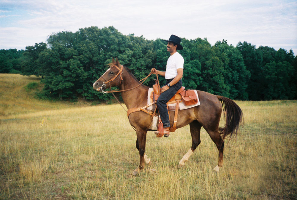 Riding the range as an adult.