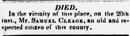 sammuel cleage dead