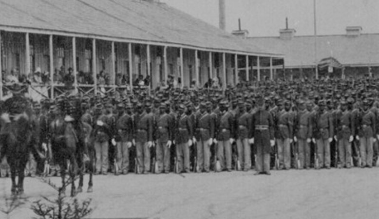 U.S. Colored Troops 1st Heavy Artillery Regiment, Knoxville Tennessee.  I like to think the men I studied are pictured here.