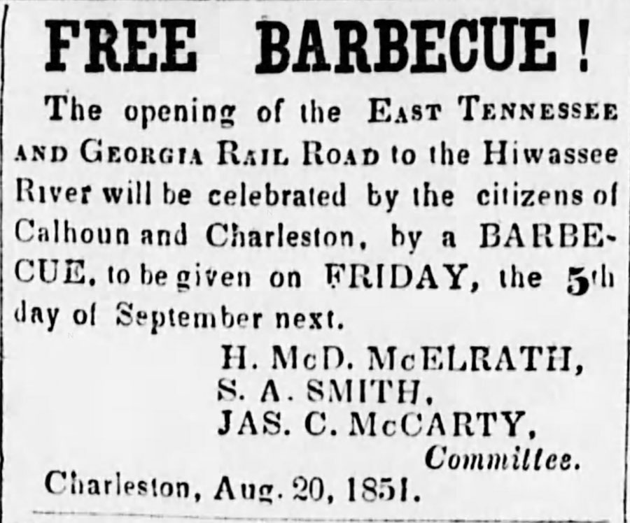 1851free barbqueThe_Athens_Post_Fri__Aug_22__1851_