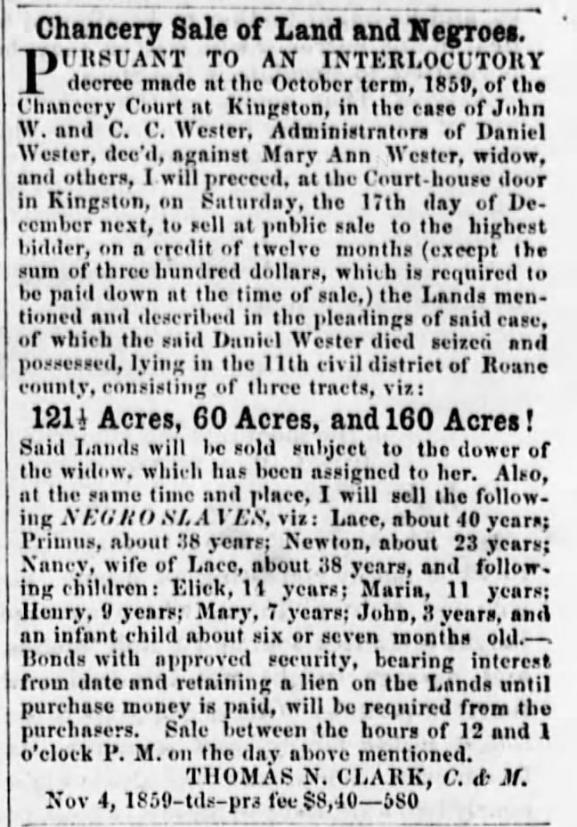 1859 family sale The_Athens_Post_Fri__Dec_16__1859_