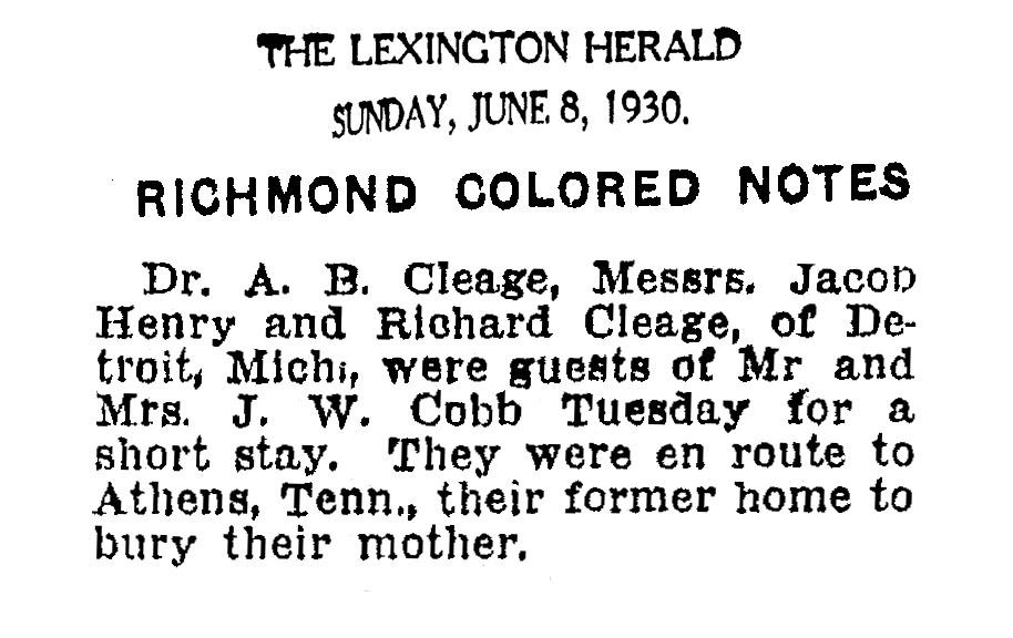 celia's death 6-8-1930