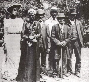 Free people celebrating Juneteenth in Austin, TX 1900.