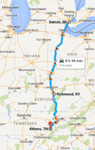 map of trip