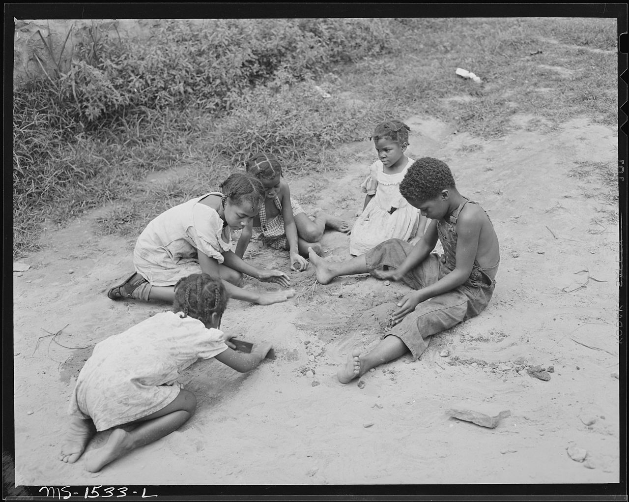 Miner's children playing in Gary, McDowell County, WV.