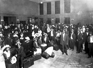 """Union Terminal Colored Waiting Room""  Woodward (http://imblacknitravel.com/amtrak-black-migration/)"