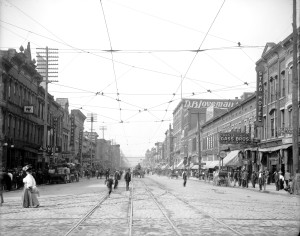 Market Street in 1907 (From: Preservation of Chattanooga Central History)