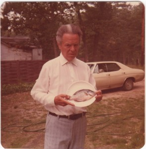 "1977:sept 10"" blue gill from L. Idlewild"