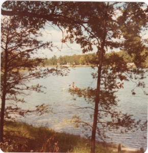 idlewild lake with boat