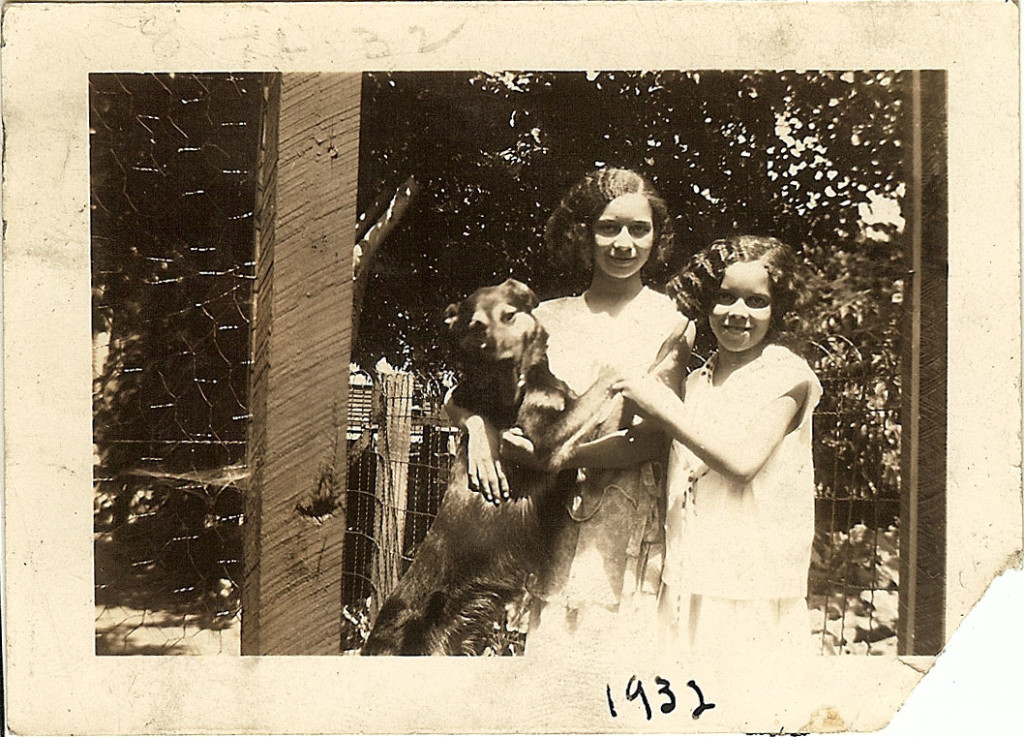 Bonzo, MV and Doris Graham. 1936. Backyard of Theodore, Detroit,MI