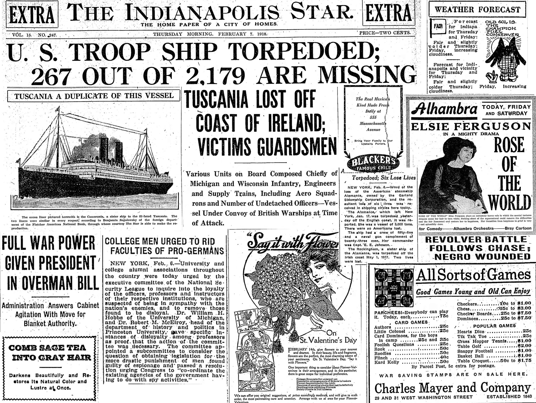 feb 7 1918 news