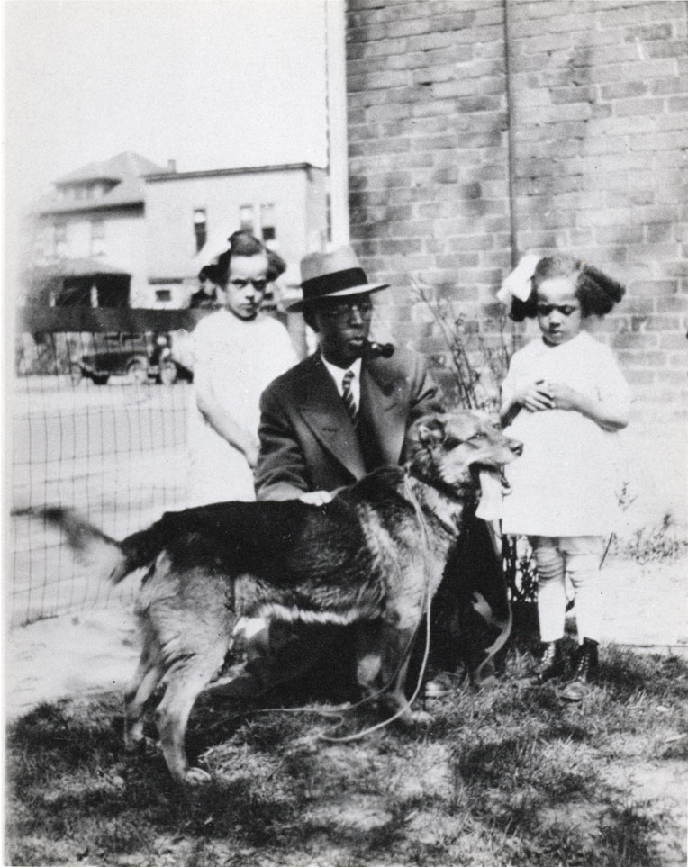 Gladys, Dr. Cleage, Anna and the dog.