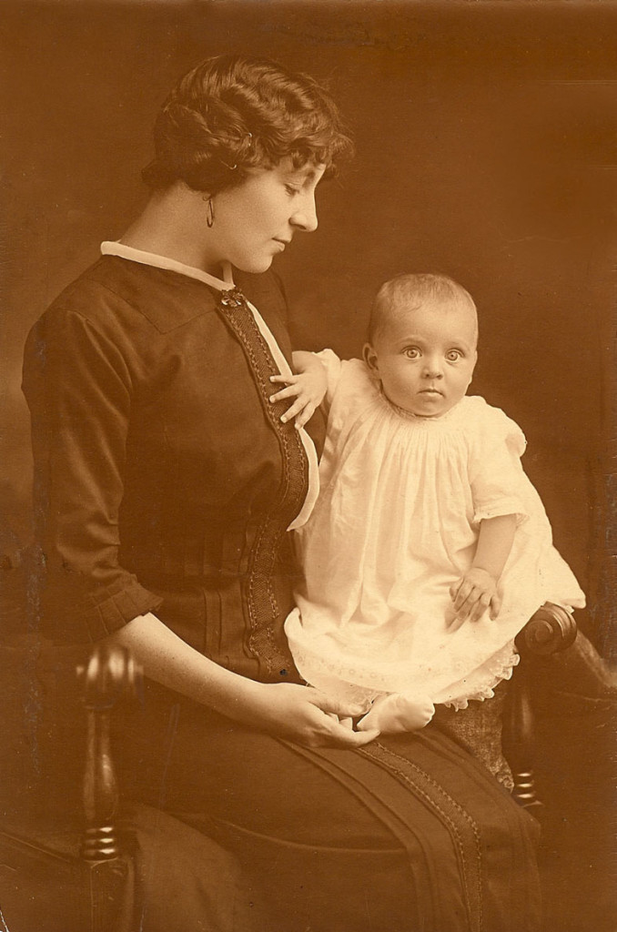 Unidentified mother and child