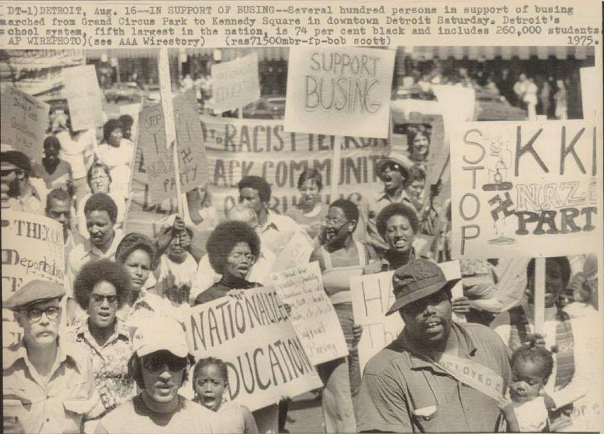 support busing march 1975 detroit