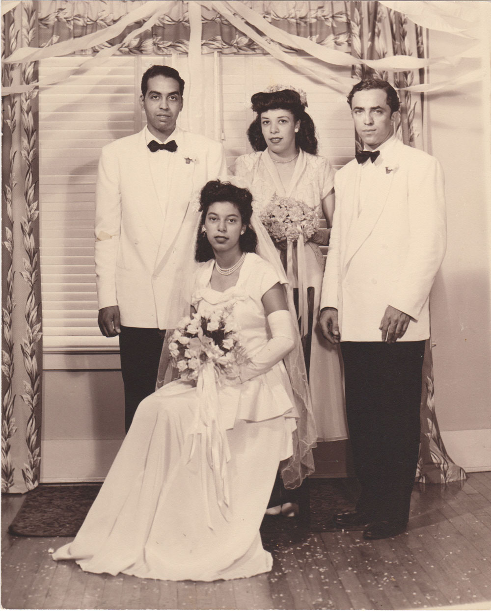 Paul, Betty seated, Maid of Honor, Best man - Louis Cleage