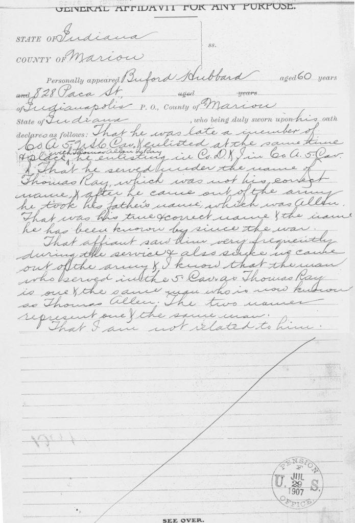 Testimony of Bulford Hubbard.