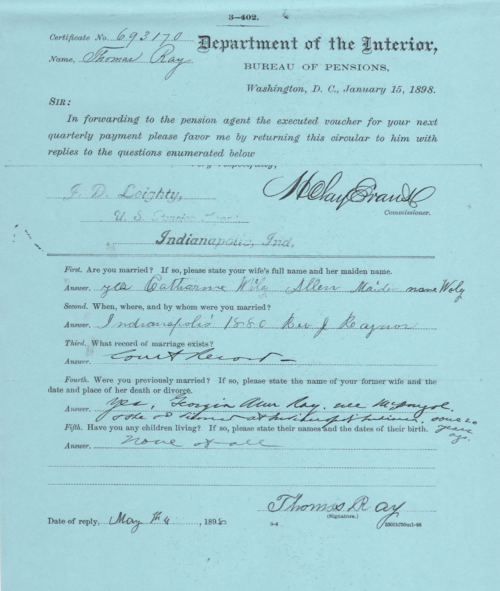 Thomas organ company pension - Part Of This Testimony Is Written In Thomas Ray Allen S Own Handwriting